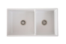 Double Country Farmhouse SInk Offset Bowl
