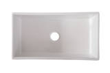 Narrow Fluted Single Bowl Fireclay Farmhouse Sink 761mm