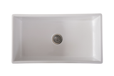 Large Single Bowl 838 mm Narrow Fluted Farmhouse Sink
