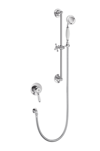 Traditional Concealed Shower With Flexible Kit - Metal Lever
