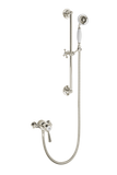 Traditional Shower With Flexible Kit - Porcelain Lever