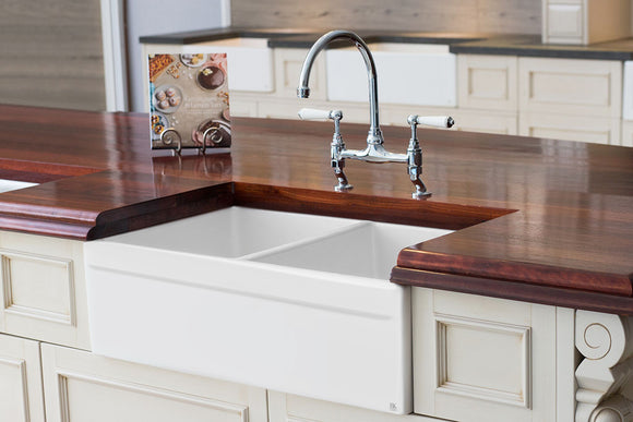 Eaton - Double Bowl Fireclay Sink