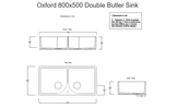 Free Tap Offer - Double Butler Sink 800mm