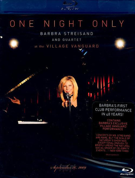 Streisand, Barbra - One Night Only: Barbra Streisand And Quartet Live At The Village Vanguard