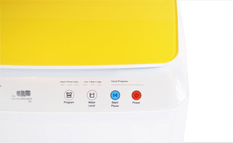 Image of Silk Lux Compact 7.7Lbs Full Automatic Washer with Germicidal UV light- Yellow