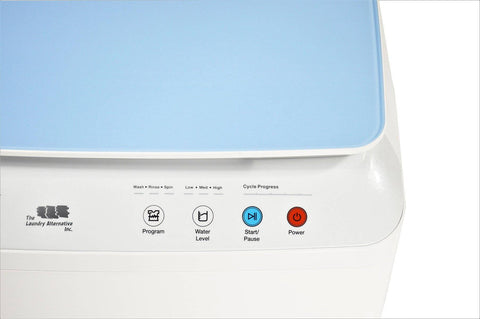 Image of Silk Lux Compact 7.7Lbs Full Automatic Washer with Germicidal UV light-Blue