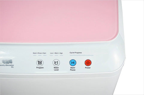 Silk Lux Compact 7.7Lbs Full Automatic Washer with Germicidal UV light- Pink
