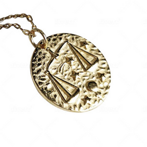Libra Zodiac Necklace (18k Gold Vermeil)
