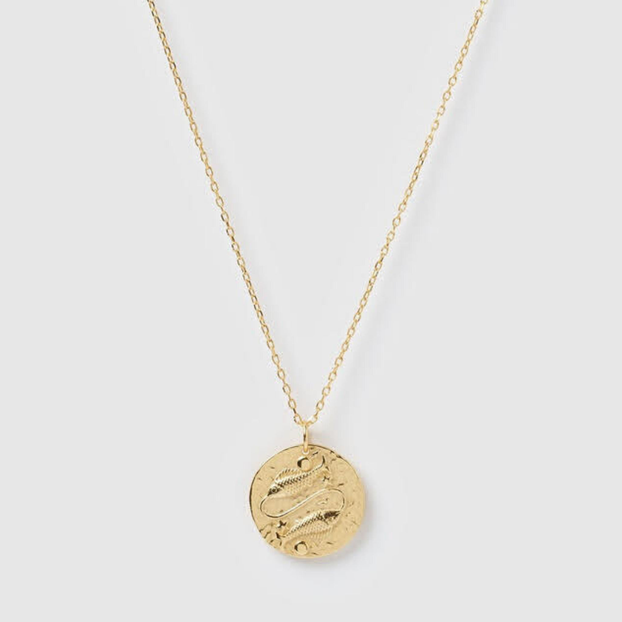 Pisces Necklace, Gold Vermeil