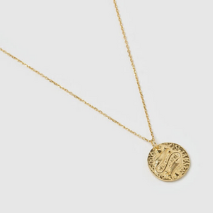 Pisces Zodiac Necklace (18k Gold Vermeil)
