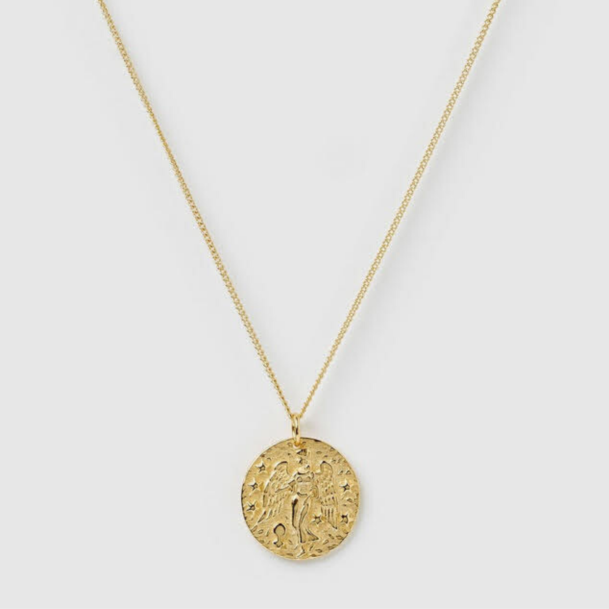 Virgo Necklace, Gold Vermeil