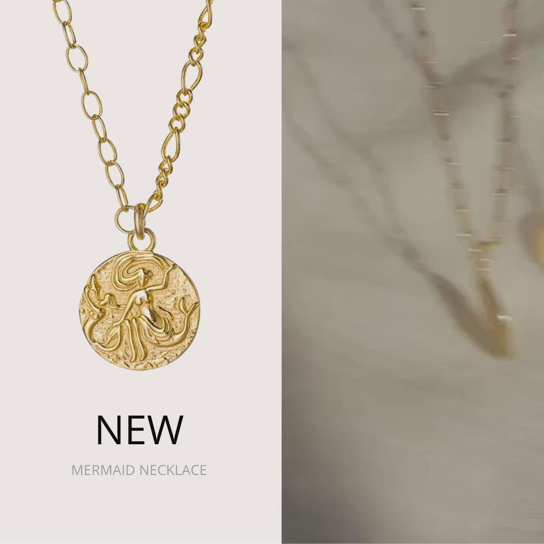 Mermaid Coin Necklace (18k Gold Vermeil)