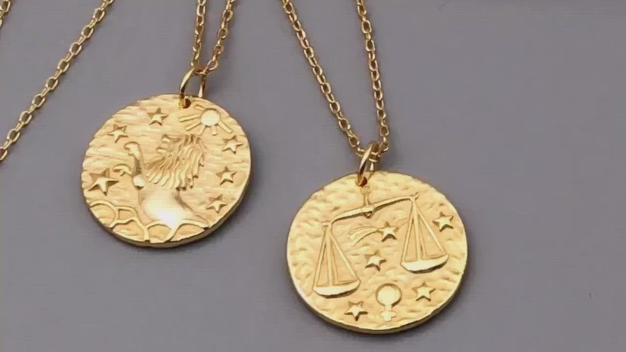 Taurus Zodiac Necklace (18k Gold Vermeil)