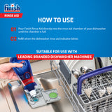 Finish Dishwasher Salt - 2 kg with Dishwasher Powder Detergent - 1 kg and Shine and Dry Rinse Aid - 400 ml