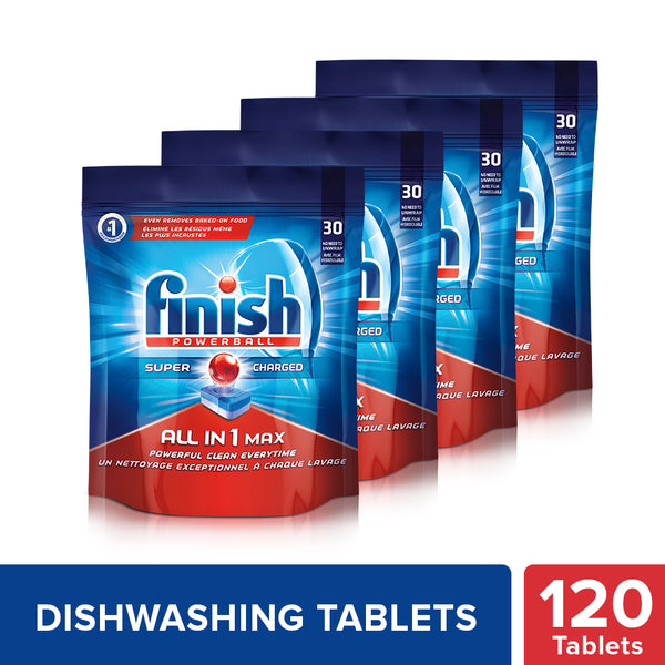 Finish All in 1 Max Powerball - 30 Tablets (Pack of 4)