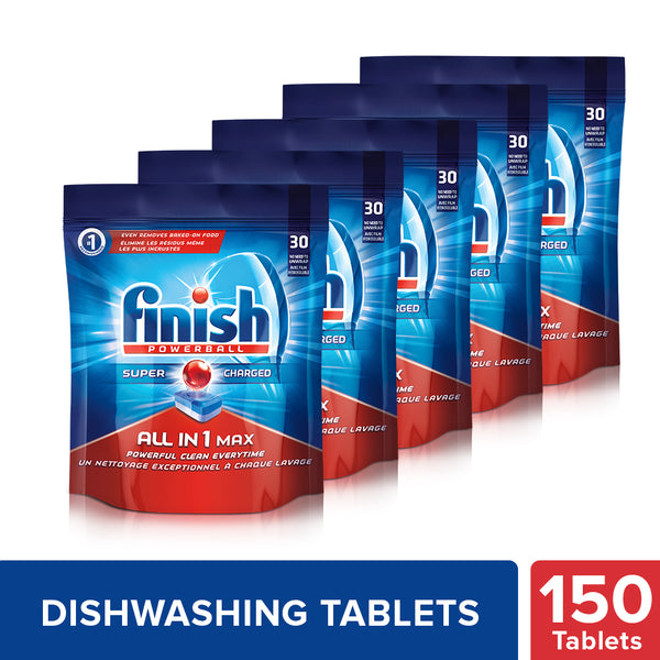 Finish All in 1 Max Powerball - 30 Tablets (Pack of 5)