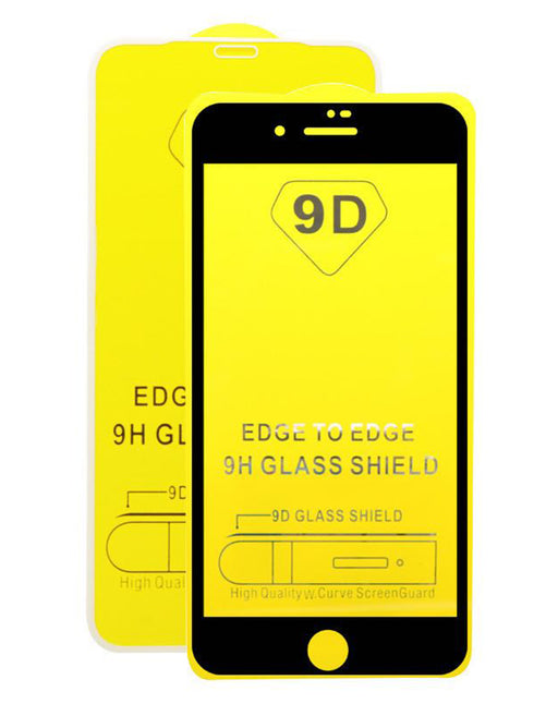 Tempered Glass Screen Protector iPhone SE 2020 Black - Loctus