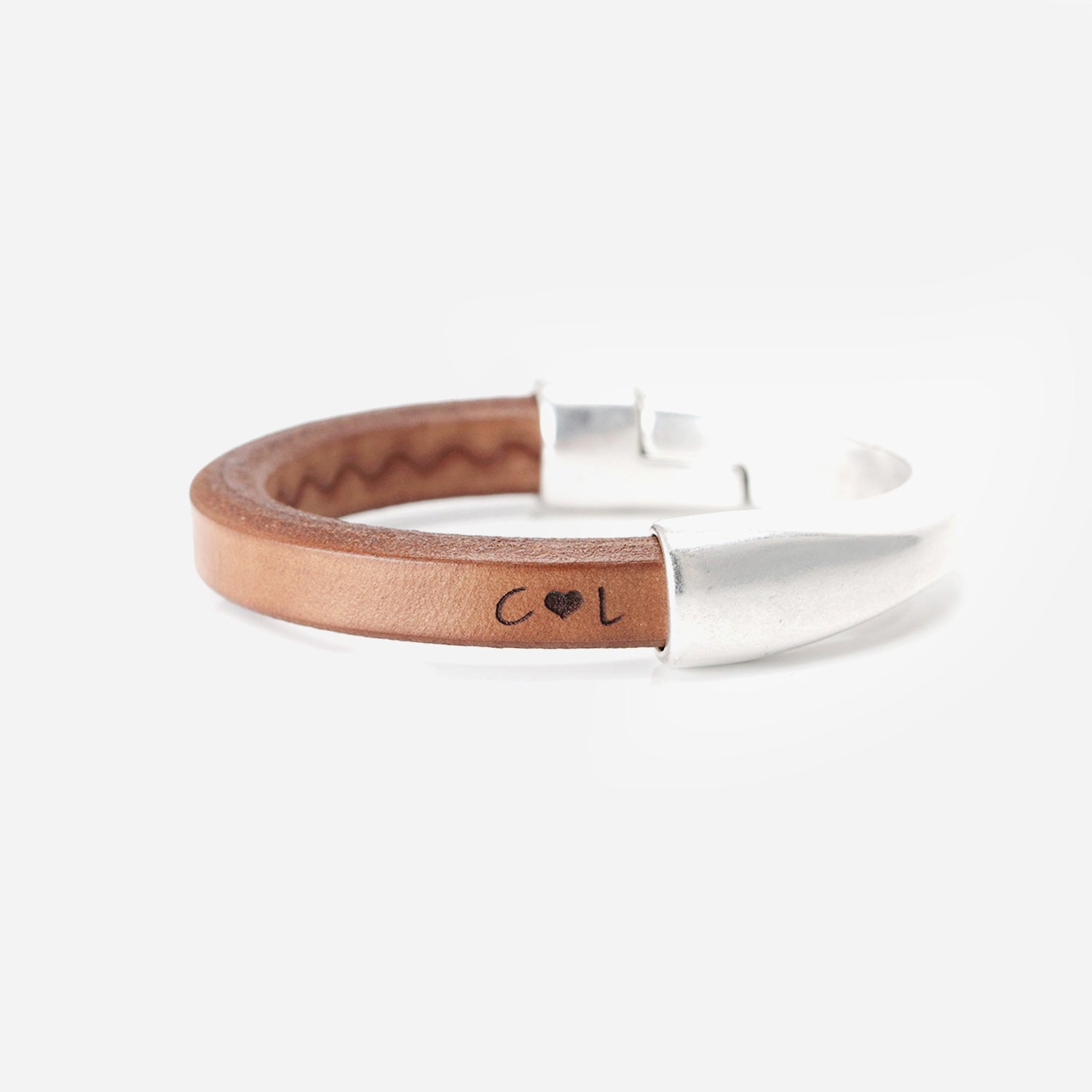 3rd Anniversary gift for her   Personalized Leather Bracelet for Women
