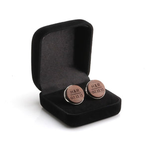 5th anniversary gift for Husband , Personalized Cufflinks