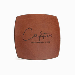 Custom Logo Coasters - Leather Coasters by Craftive