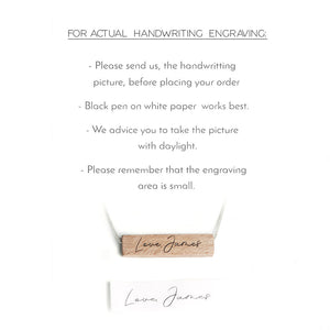 Handwriting Jewelry for Her - Turn Handwriting into Jewelry by Craftive