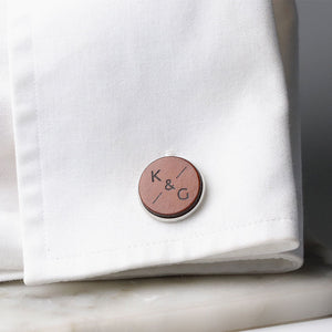 Leather Cufflinks -  Wedding Cufflinks by Craftive
