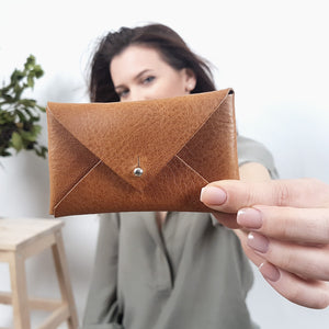 Leather Envelope Wallet - Small leather envelope