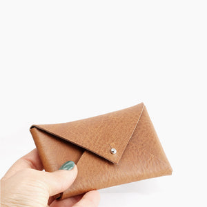 Leather Envelope Wallet - Small leather envelope by Craftive