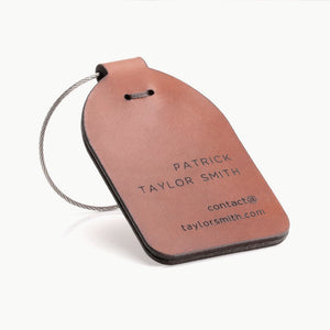 Leather luggage tag - Travel Luggage Tag by Craftive
