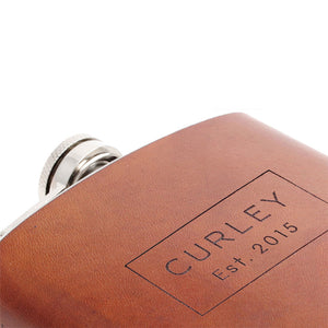 Personalised Leather Hip Flask - Leather Anniversary Gift Ideas by Craftive