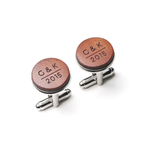 3rd anniversary gift for husband , Personalized Anniversary Cufflinks