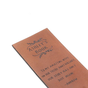 Personalized Leather Bookmarks - Anniversary Bookmarks by Craftive