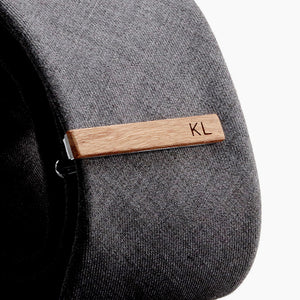 Skinny Tie Clip Personalized with Initials - Slim Tie Bar by Craftive