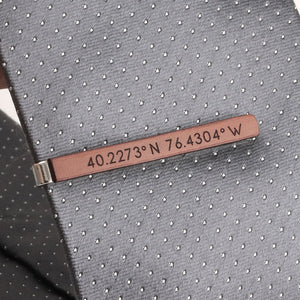 Tie clips for men - Custom Coordinates by Craftive