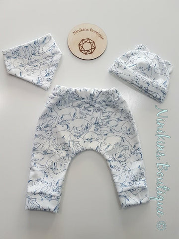 3 Piece Sets - Woodland Creatures/Blue Size: 000