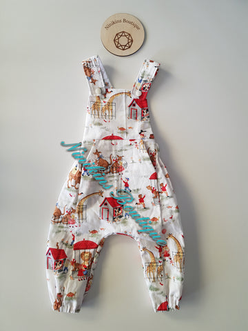 Spring Romper-At The Zoo Size: 00