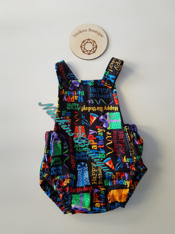 Summer Romper-Happy Birthday Size: 00