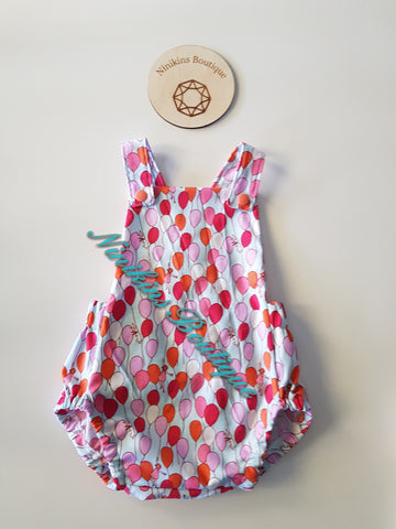 Summer Romper-Balloons Size: 00