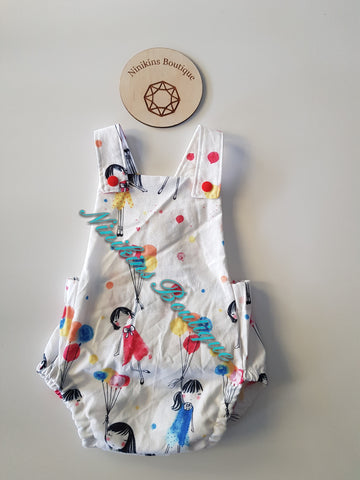 Summer Romper-Floating Balloon Girls Size: 00