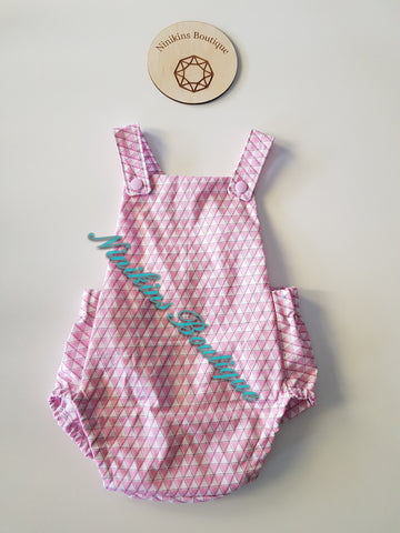 Summer Romper-Pink Triangles Size: 00