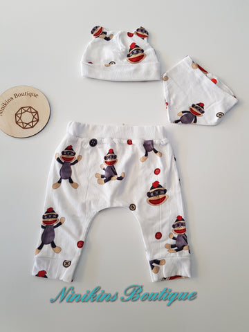 3 Piece Sets - Cheeky Monkey Size: 000