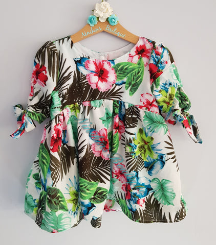 Bristol Top/Dress - Tropical Flowers Size: 18mths