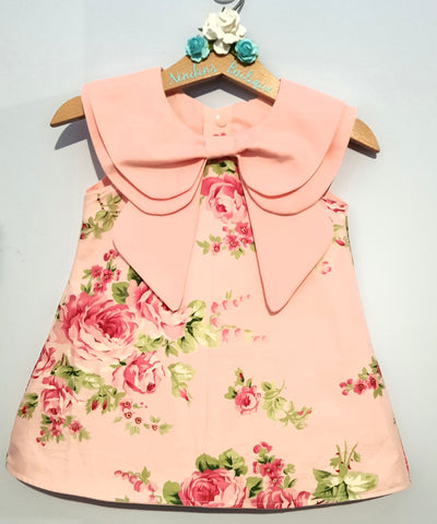 Annabelle Dress - Pink Roses Size: 1