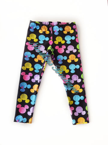 Leggings - Rainbow Mouse Heads Size: 3