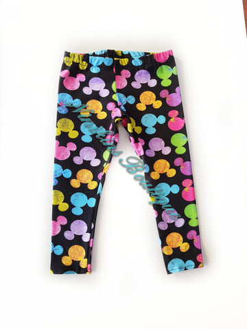 Leggings - Rainbow Mouse Heads Size: 2
