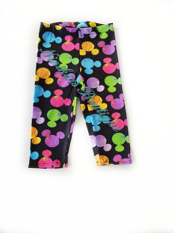 Leggings - Rainbow Mouse Heads Size: 1