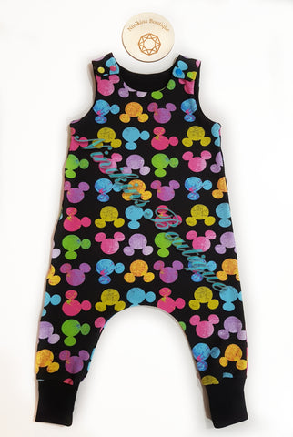 Harem Romper-Rainbow Mouse Heads Size: 1