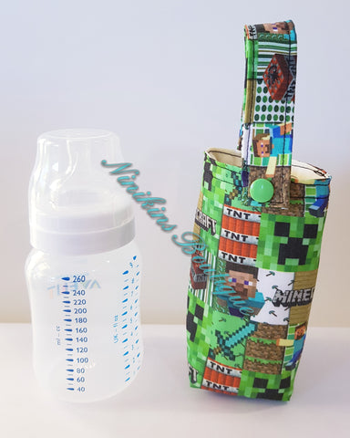 Insulated Bottle Holder Short - MineCraft