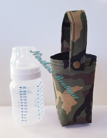 Insulated Bottle Holder Short - Camo