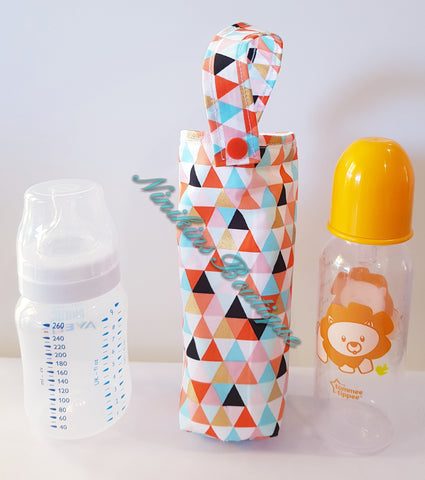 Insulated Bottle Holder Standard - Triangles